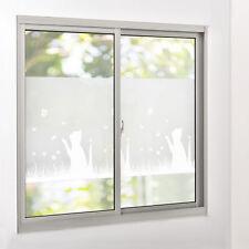 [casa.pro]® Sichtschutzfolie Milchglas Katze - 67,5 cm x 1 m - statisch Fenster