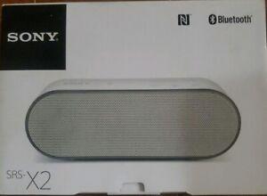 Sony SRSX2 Ultra-Portable NFC Bluetooth Wireless Speaker (White) with Speakerpho