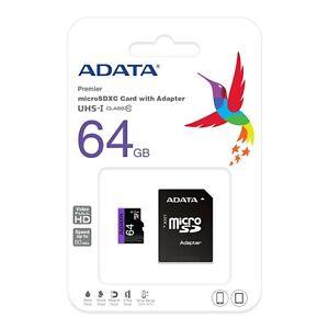 64GB  MicroSD SDXC Card Class 10 UHS-I up to 80MB/s premier original