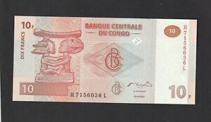 Congo 10 Francs (2003) P93 Banknote paper money - UNC