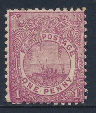 1898 FIJI 1d ROSY MAUVE MINT HINGED SG97 Perf 11¾x11¾
