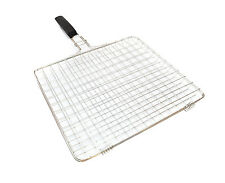 BBQ CHOICE Rubber Handle/Stainless Steel Mesh Barbecue Grilling Basket
