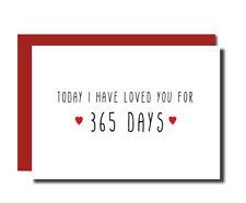 Anniversary card 1st wedding card boyfriend husband wife girlfriend funny cute