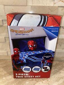 Marvel Spiderman 3 Piece Twin Sheet Set Blue