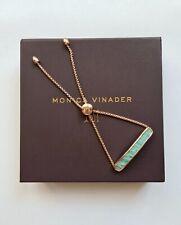 New Monica Vinader Bracelet Baja Amazonite Rose Gold Vermeil Bracelet