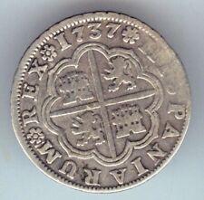 Cincin19, Muy Bonito 2 Reales Felipe V,1737 ,Sevilla 5,50gr