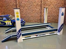 1/18 Scale 4 post garage ramp with variable height for garage diorama