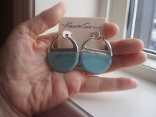 KENNETH COLE DESIGNER S/T & TURQUOISE EARRINGS