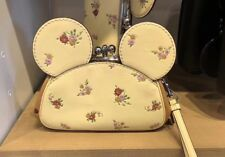 Coach Disney Minnie Mouse Ears Leather Clutch Wristlet Limited Edition F29360