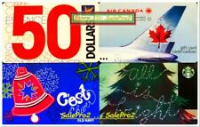 4x STARBUCKS CHRISTMAS OLD NAVY AIR CANADA ULTRAMAR COLLECTIBLE GIFT CARD LOT