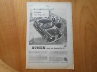Vintage Austin A30 Advert -- Original -- from 1955