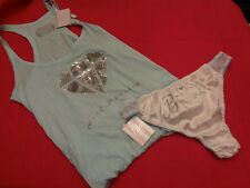 Victorias Secret Bridal Set Tank Top w/ Panty  Bling MEDIUM Set NWT - BR8