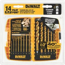 DEWALT DW1354 14Piece Titanium Drill Bit Set, New, Free Shipping