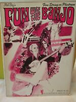 Mel Bay's FUN WITH THE  BANJO, 1962 Beginner book, MB 93268 Sheet Music Songbook