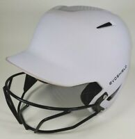 EvoShield Adult SM White Matte Batting Helmet w/ Face Mask Baseball Softball EUC