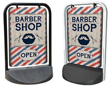 BARBER SHOP PAVEMENT SIGN, A board, ADVERTISING SHOP DISPLAY, Swinger Sign