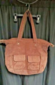 Thirty One Retro Metro Shoulder Bag Tote Purse Brown Large Pockets