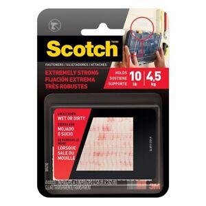 Scotch 2.5cm x 7.6cm Clear Extreme Fasteners Strip - 2 Pack