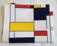 NUOVO Mondrian STILE STAMPA PURO COTONE STROFINACCIO GINEPRO Marca
