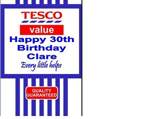 Personalised Tesco Logo Birthday card Christmas Xmas A5 Any Name age Occasion