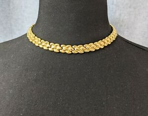 Beautiful Vintage Jewellery Gold-tone Link Chain Necklace
