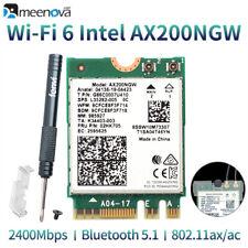 M.2/NGFF 2230 AX200 802.11ax WiFi 6 Card, Bluetooth 5.1 2400Mbps 5GHz & 2.4GHz