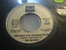 "BEATLES long winding road / for you blue ( rock ) 7"" / 45 - JUKE BOX PROMO -"