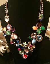 Betsey Johnson Sweet Shop Sweetshop HUGE Candy Crush Crystal Statement Necklace