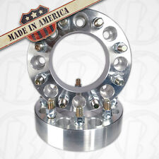 "Two 8 Lug 200mm To 8 x 200mm Wheel Adapters 2"" Spacer 14mm 1.5 Studs & Lug Nuts"