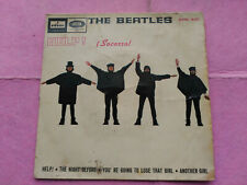 7'' EP THE BEATLES - HELP! ¡SOCORRO! - ODEON SPAIN G+/VG
