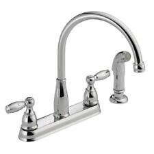 Delta Standard Kitchen Faucet 2-Handle 8 in. Widespread Side Sprayer Chrome