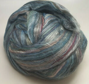 Ashland Bay Merino/ Silk Roving - 4 oz. - Blues, Greens, Grape, Gray