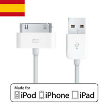 Cable Cargador conector USB 2.0 blanco para conectar iPhone, iPod, iPad Apple