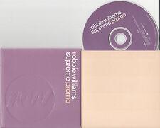 ROBBIE WILLIAMS Supreme 2000 UK 1-track promo CD