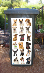Dogs Dogs and more dogs wheelie bin sticker