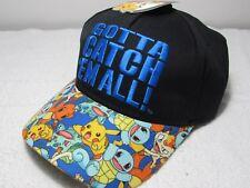 NEW GENUINE OFFICIAL Pokemon GO GOTTA CATCH 'EM ALL YOUTH KIDS CAP HAT SNAPBACK