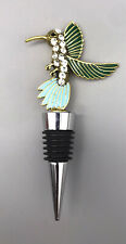 New Without Tag Hummingbird Enamel And Crystal Wine Stopper