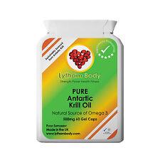 Aceite De Krill Pure Superba Antártico fuerza Extra 60 X 500mg Cápsulas