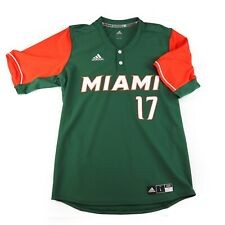 Miami Hurricanes University adidas Full Stitched Baseball Jersey #17 Mens L