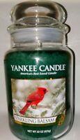 YANKEE CANDLE Sparkling Balsam 22 oz LARGE JAR VHTF SCENT