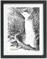 Sherlock Holmes Reichenbach Falls Strand 1893 Reprint A4 Art Poster