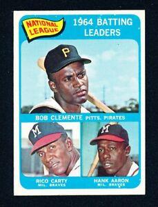 1965 TOPPS Baseball #2 NL BATTING LEADERS EX+/EXMT