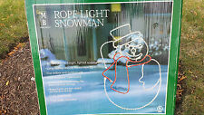3D Sculpture 42 Mr Snowman Christmas Rope Light Up Outdoor Wire Frame Decoration