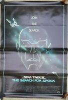 Vintage 1984 STAR TREK III: THE SEARCH FOR SPOCK One Sheet Poster Shatner Nimoy