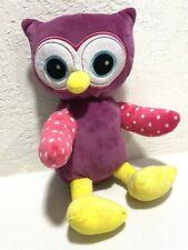 Sidney Ryan Owl Plush Stuffed Bird Pink White Polka Dot Purple Yellow Feet
