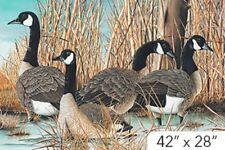 Canada Canadan Goose Geese Digital Print Panel Quilt fabric Cotton by Northcott