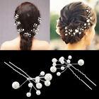 Women Wedding Bridal Bridesmaid Pearls Hair Pins Clips Comb Headband Deluxe New