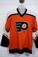 Vintage Philadelphia Flyers Size CCM Jersey White Orange & Black Stitched, Med