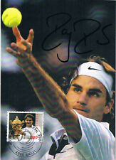 "Roger Federer 1981- genuine autograph 4""x6"" postcard signed Tennis No.1"