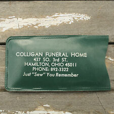 Vintage Colligan Funeral Home Sewing Kit Needle and Tread Advertising Hamilton